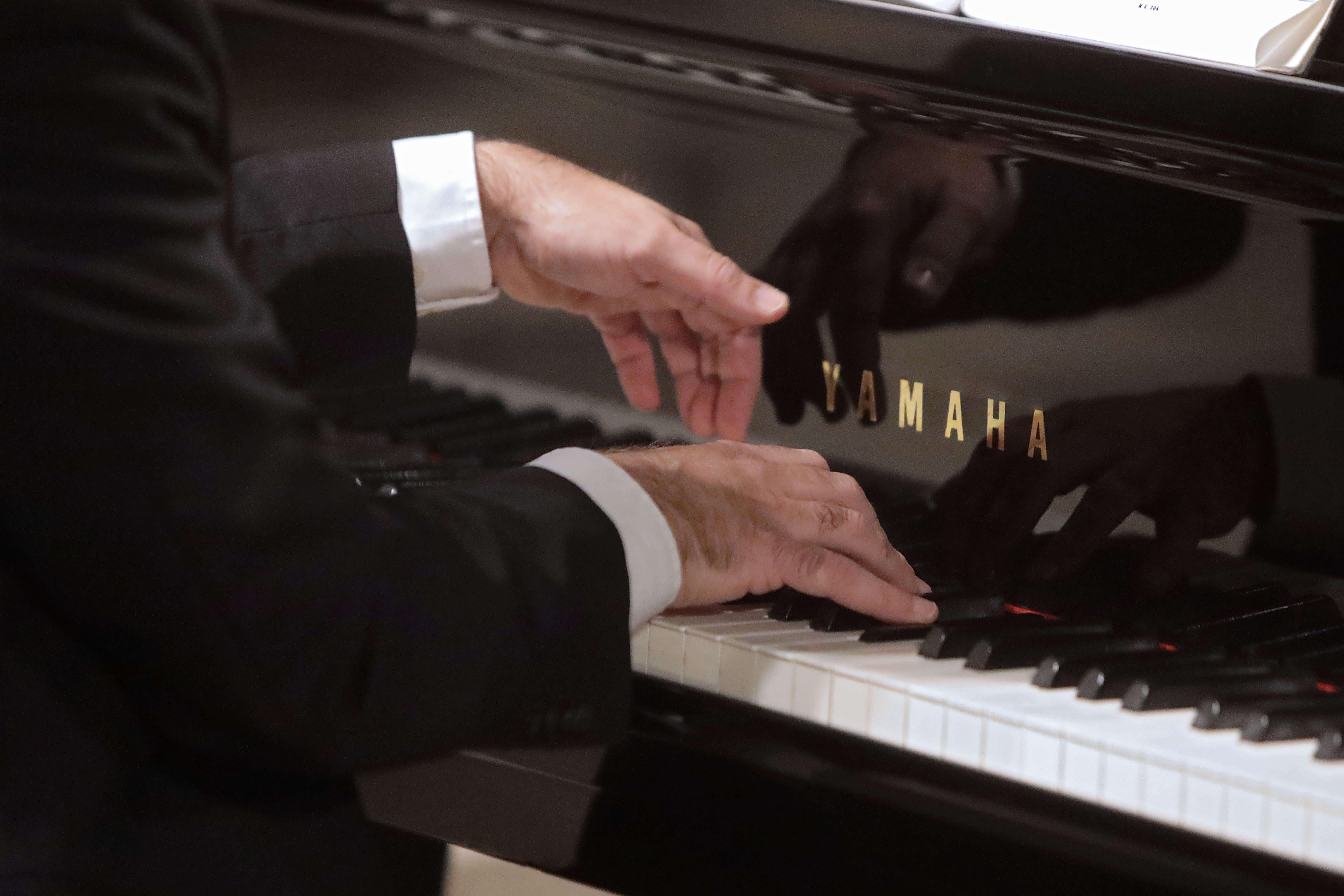 Josep Surinyac en ple concert. Fotografia de Jordi Bardajil